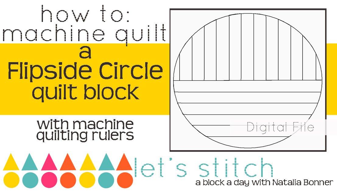 Flipside Circle 6 Block - Digital
