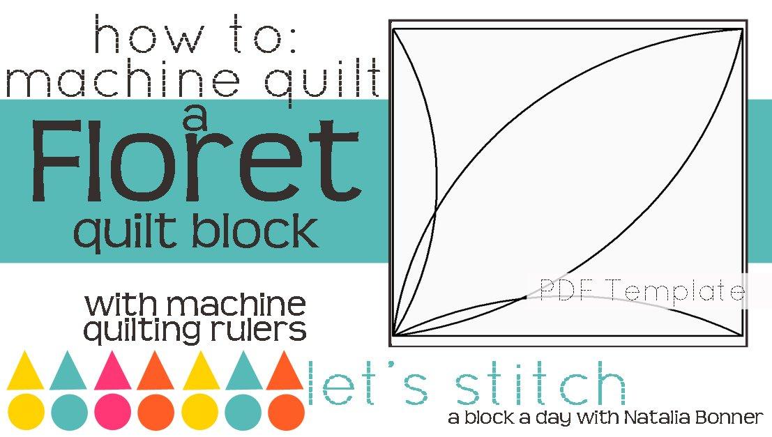 Let's Stitch - A Block a Day With Natalia Bonner - PDF - Floret