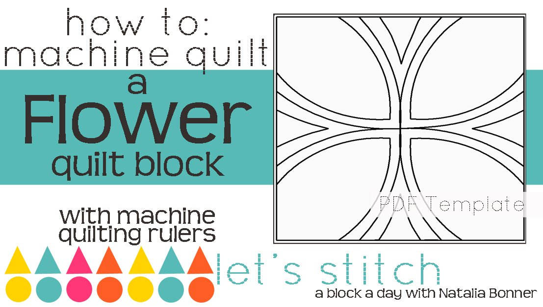 Let's Stitch - A Block a Day With Natalia Bonner - PDF - Flower