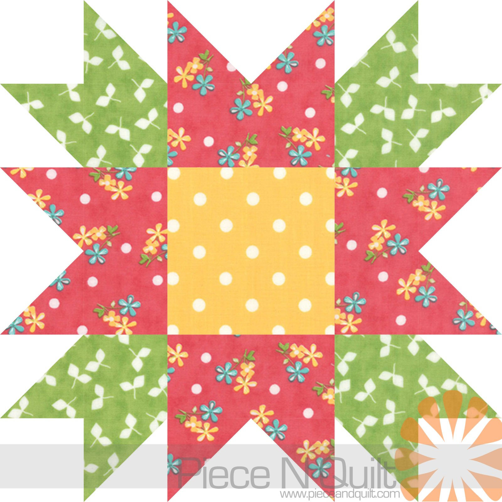 Flower Star Quilt Pattern