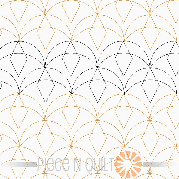 Flying Geese Panotgraph Pattern - Digital