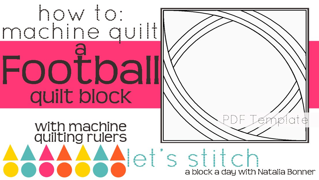 Let's Stitch - A Block a Day With Natalia Bonner - PDF - Football