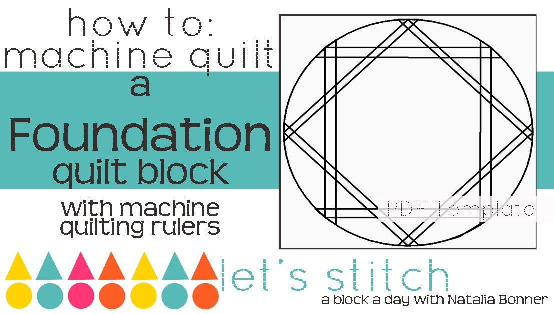 Let's Stitch - A Block a Day With Natalia Bonner - PDF - Foundation