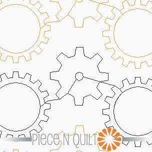 Gears Pantograph Pattern - Paper