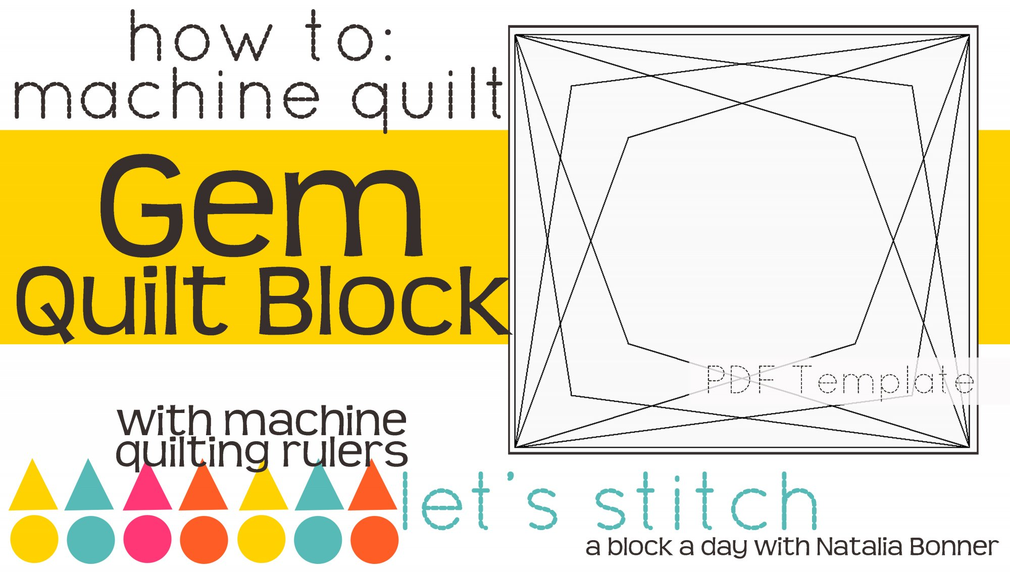 Let's Stitch - A Block a Day With Natalia Bonner - PDF - Gem