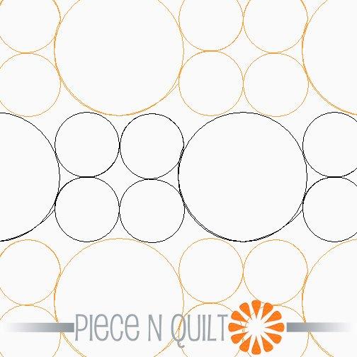 Geometric Pearls Offset Pantograph Pattern - Paper