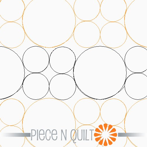 Geometric Pearls Pantograph Pattern - Digital
