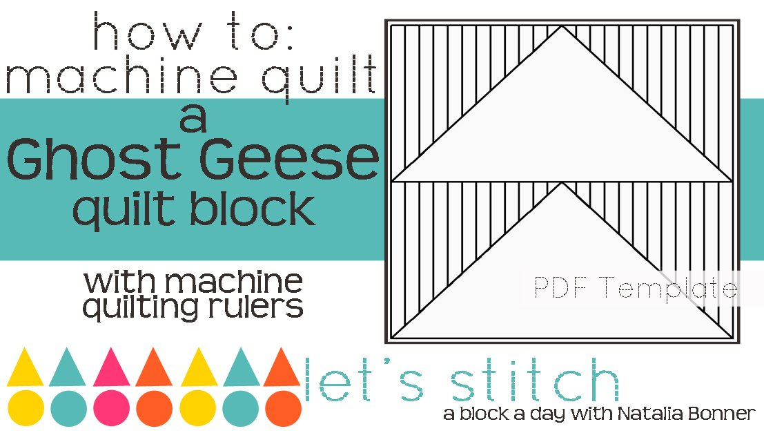 Let's Stitch - A Block a Day With Natalia Bonner - PDF - Ghost Geese