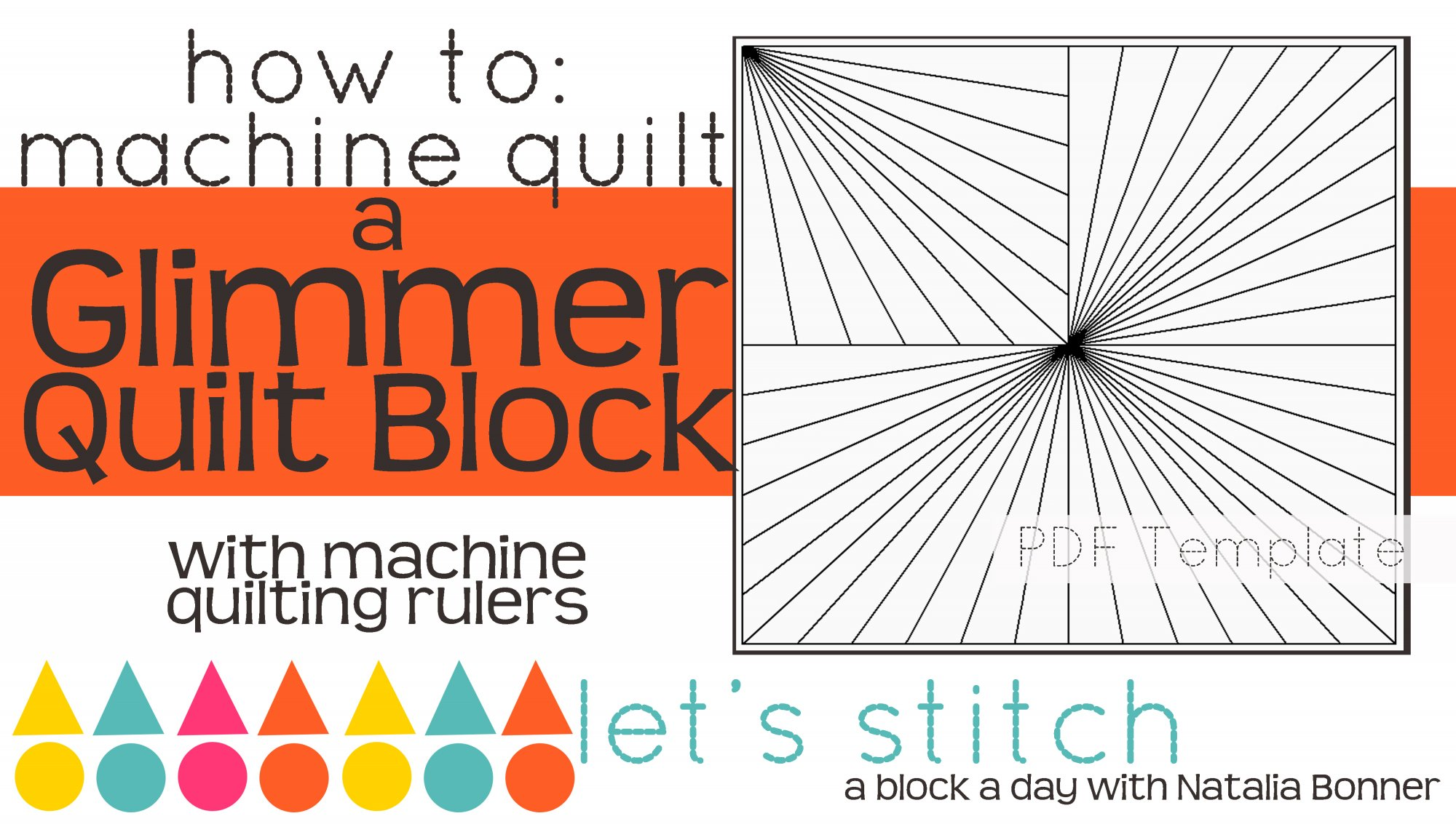 Let's Stitch - A Block a Day With Natalia Bonner - PDF - Glimmer