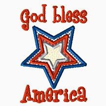 God Bless America Applique