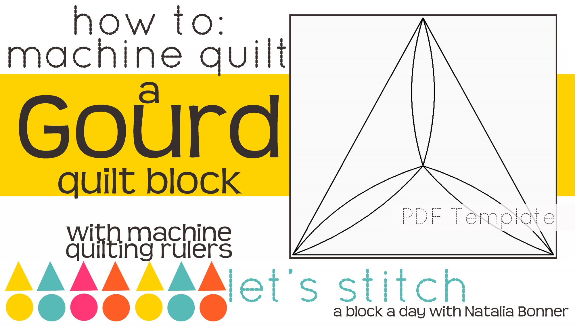 Let's Stitch - A Block a Day With Natalia Bonner - PDF - Gourd