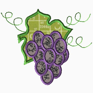 Grapes Applique