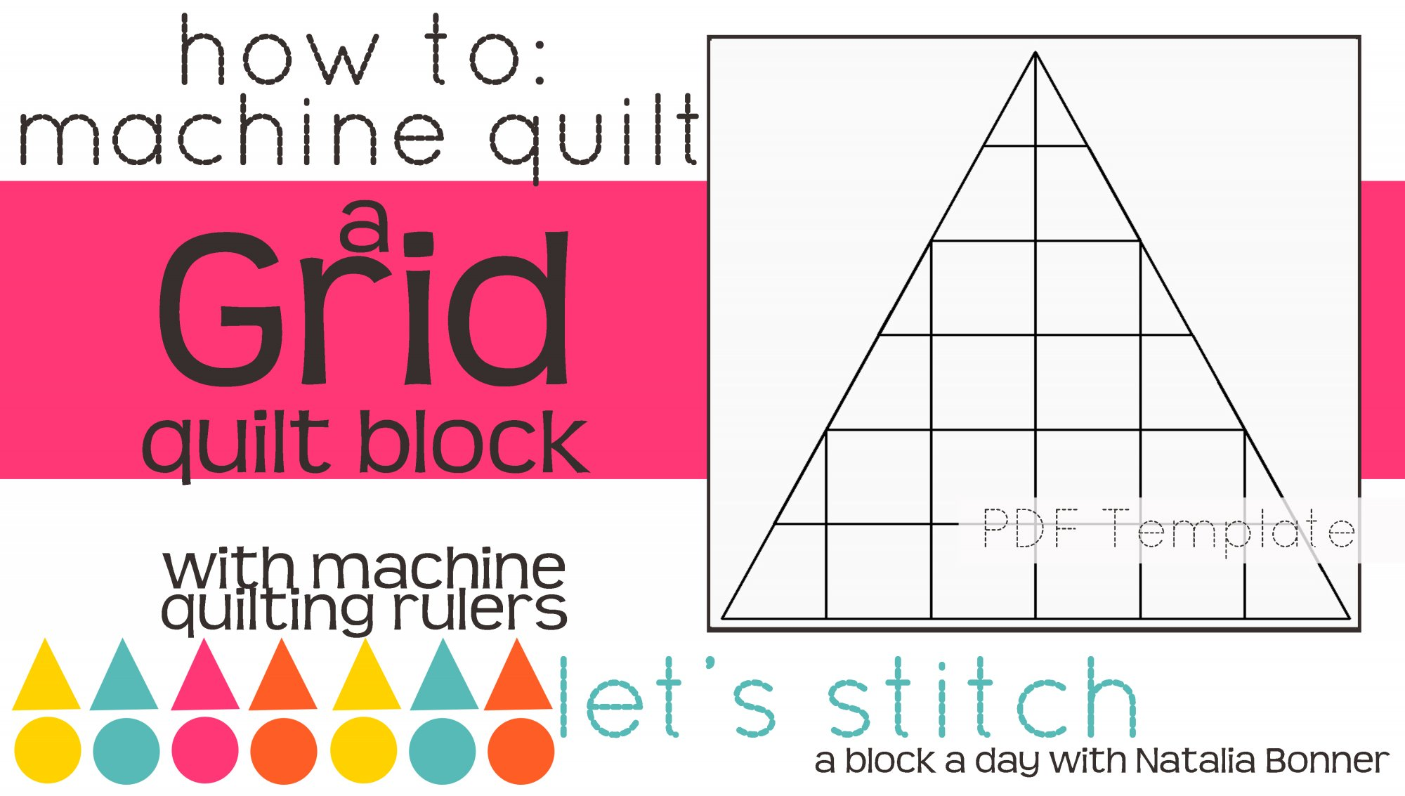Let's Stitch - A Block a Day With Natalia Bonner - PDF - Grid