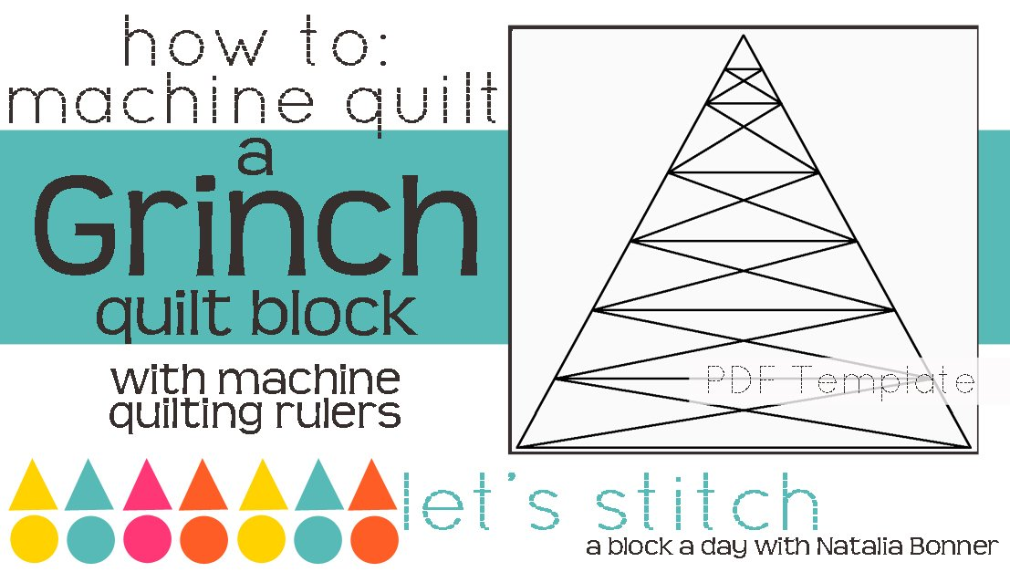 Let's Stitch - A Block a Day With Natalia Bonner - PDF - Grinch