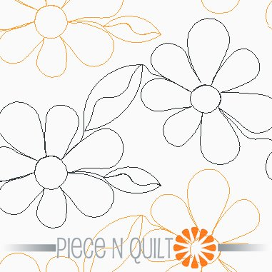 Groovy Flowers Pantograph Pattern - Digital
