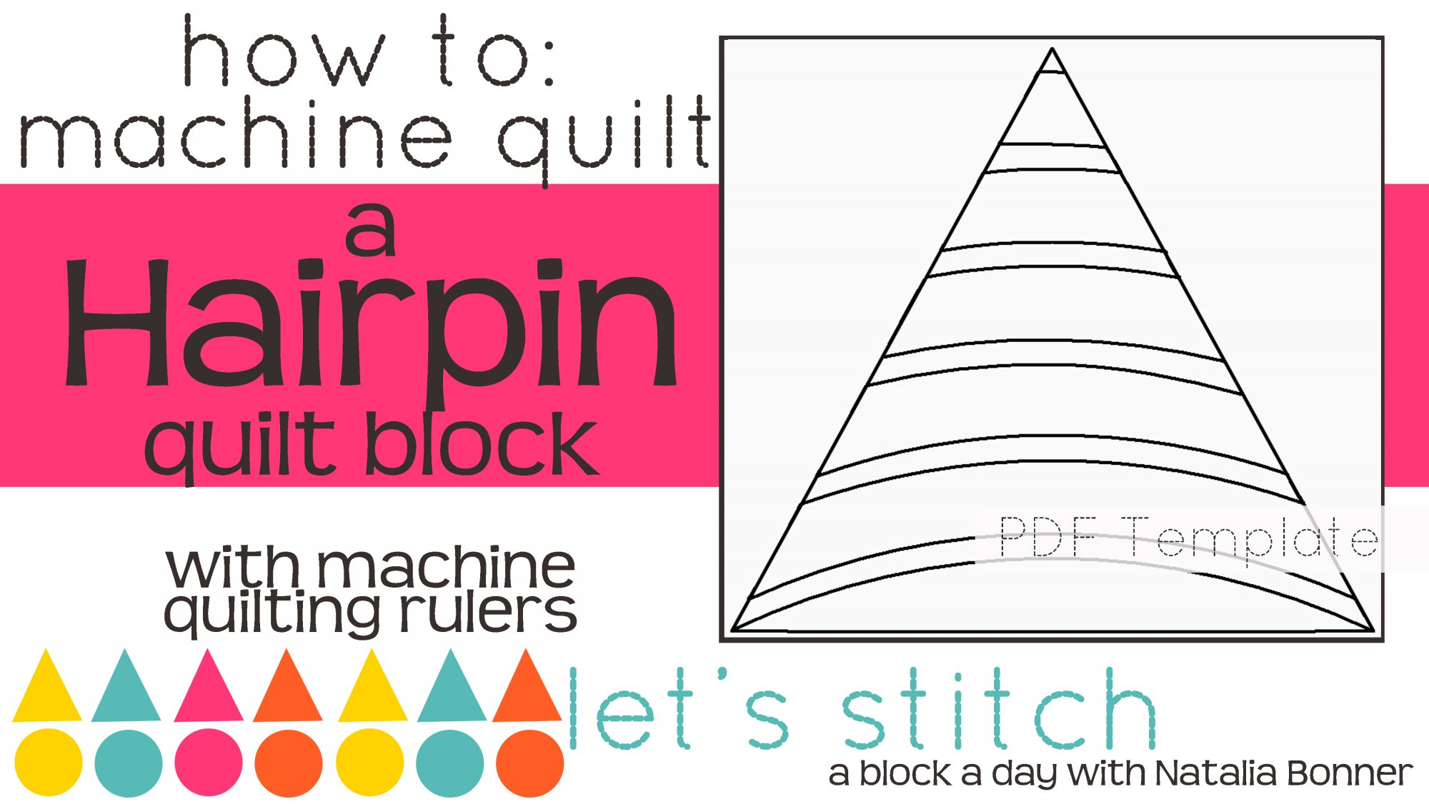 Let's Stitch - A Block a Day With Natalia Bonner - PDF - Hairpin