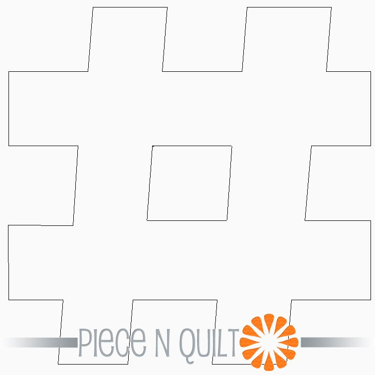 Hashtag Machine Quilting Pattern - Digital