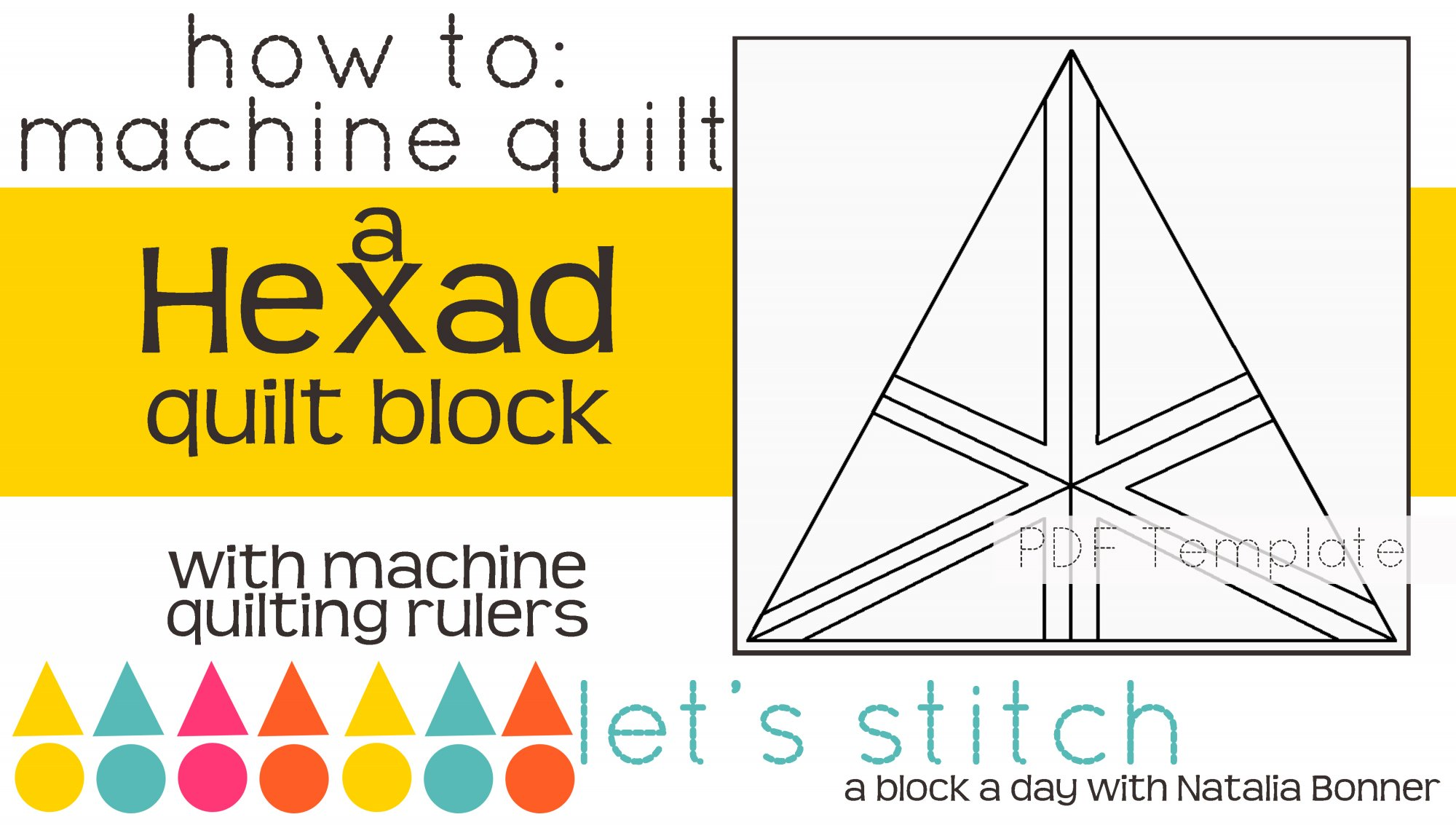 Let's Stitch - A Block a Day With Natalia Bonner - PDF - Hexad