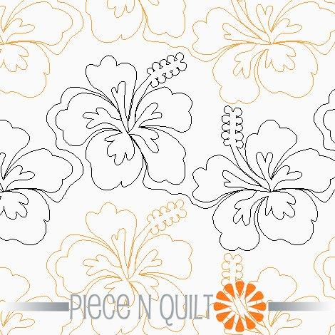 Hibiscus Pantograph Pattern - Digital