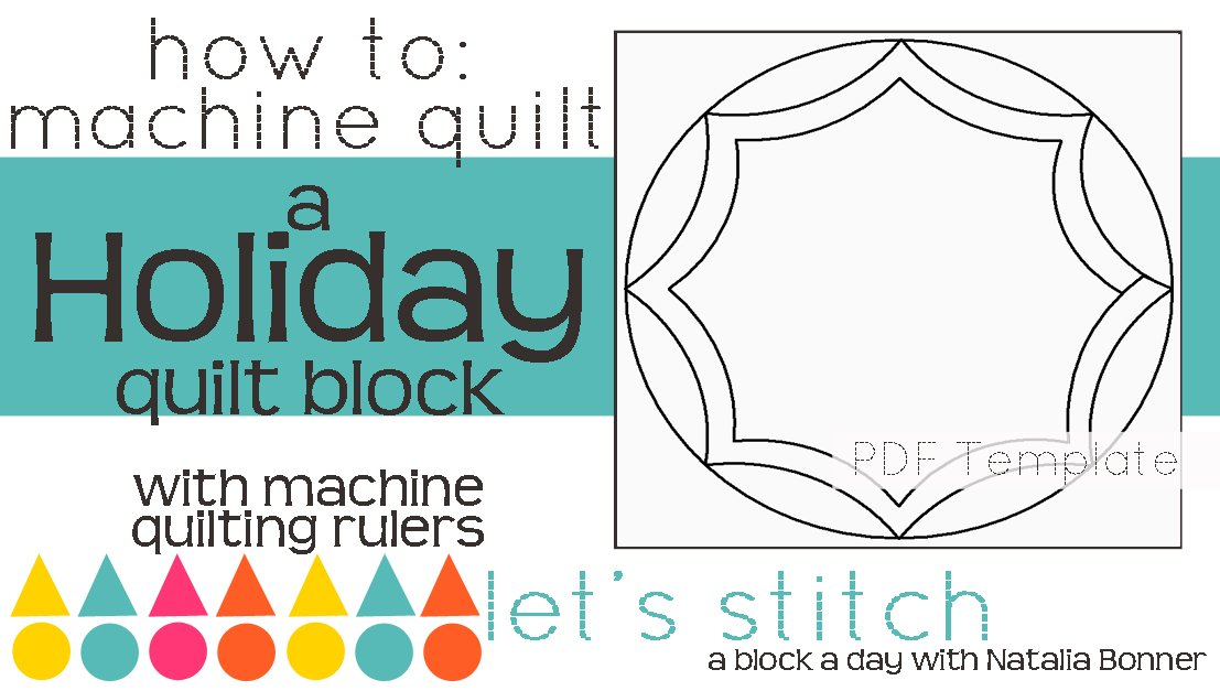 Let's Stitch - A Block a Day With Natalia Bonner - PDF - Holiday