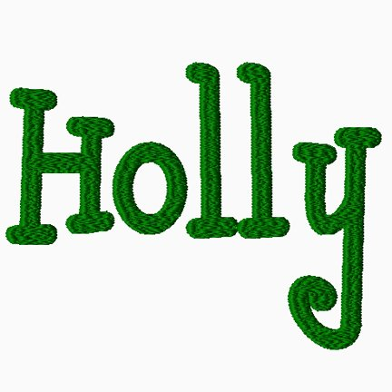 Holly Embroidery