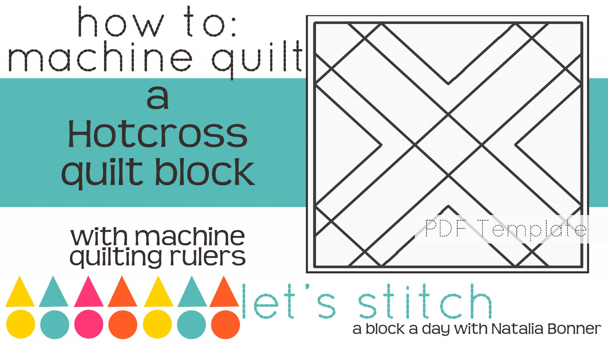 Let's Stitch - A Block a Day With Natalia Bonner - PDF - Hotcross