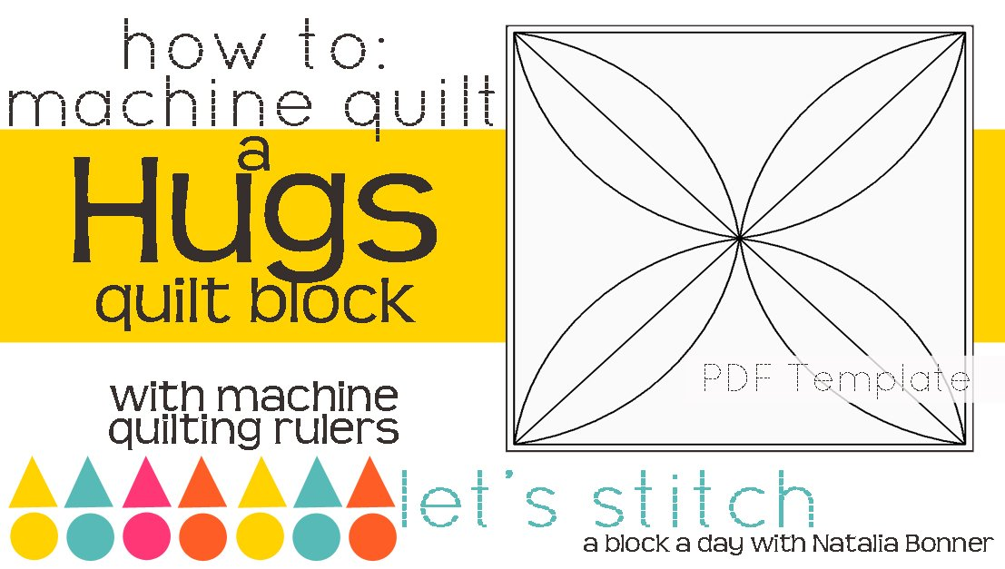 Let's Stitch - A Block a Day With Natalia Bonner - PDF - Hugs