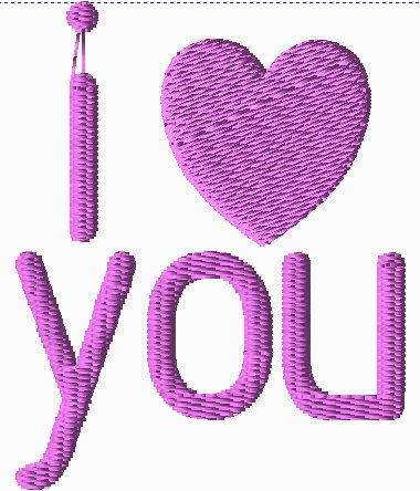 I {heart} You Embroidery