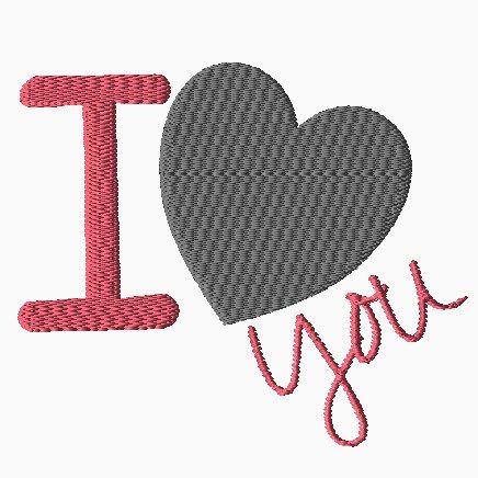 I Heart You Embroidery-