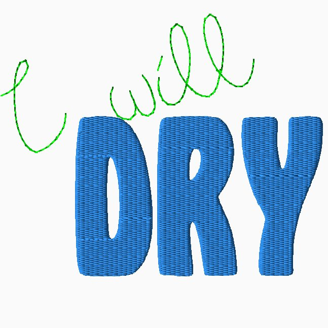 I Will Dry Embroidery
