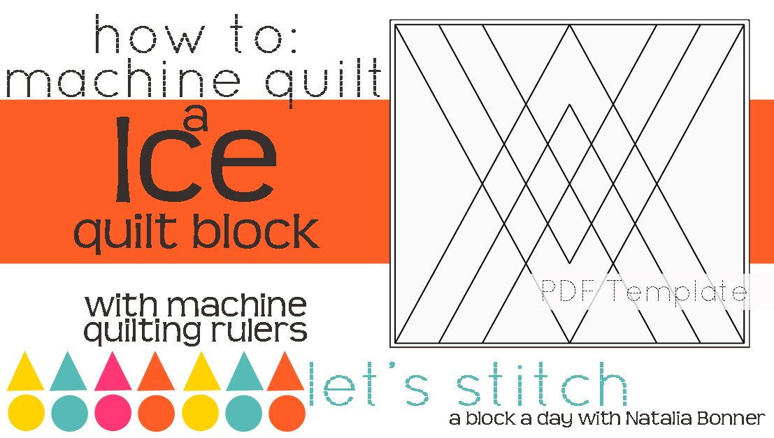 Let's Stitch - A Block a Day With Natalia Bonner - PDF - Ice
