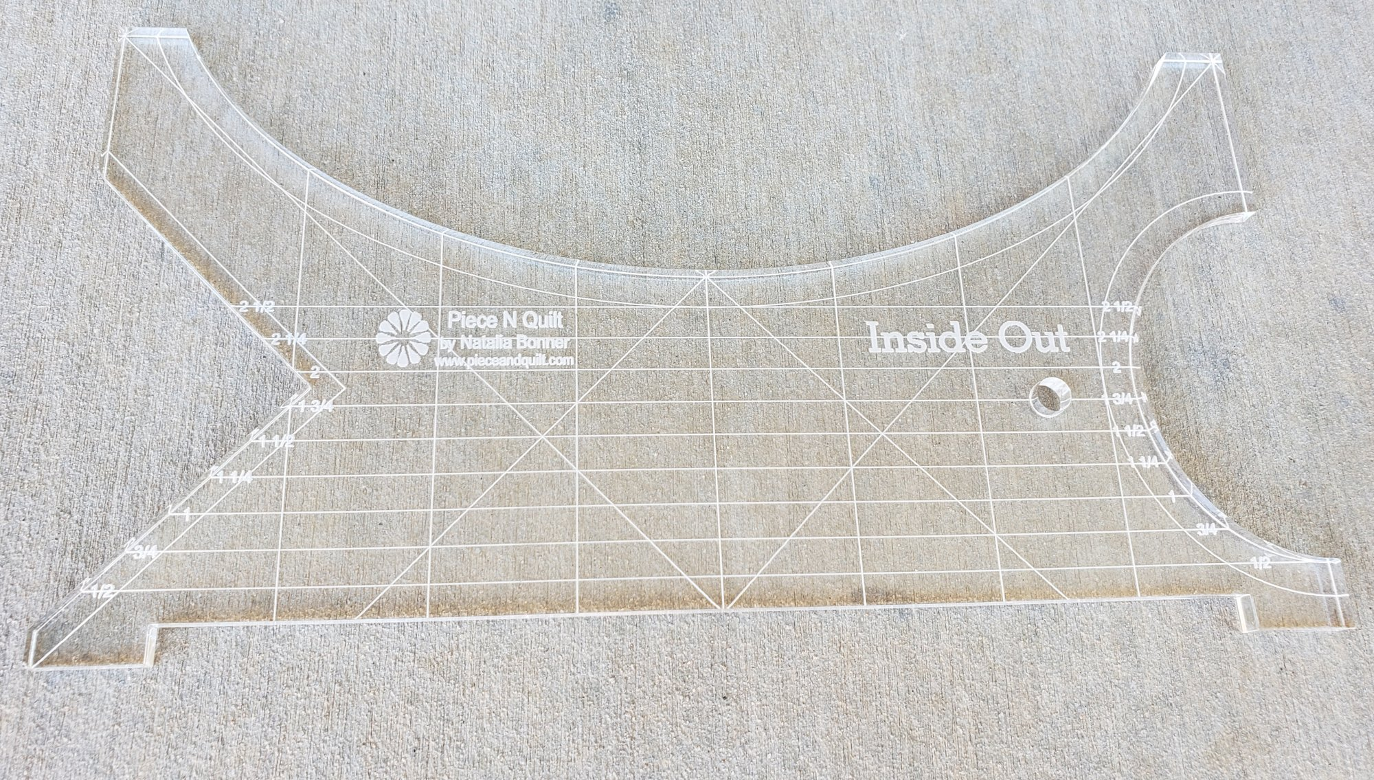 Inside Out Machine Quilting Ruler