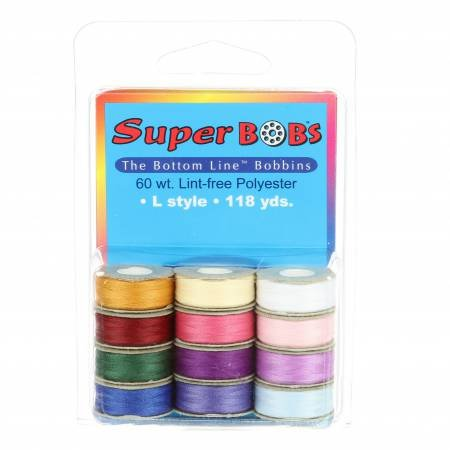 Super Bobs - The Bottom Line Bobbins - L Style  - Jewel And Pastel