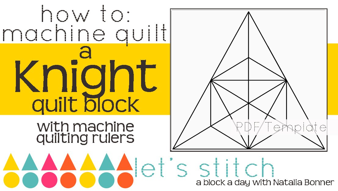 Let's Stitch - A Block a Day With Natalia Bonner - PDF - Knight