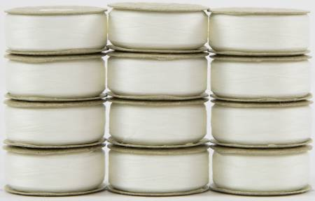 Super Bobs - The Bottom Line Bobbins - L Style - Lace White - 12ct