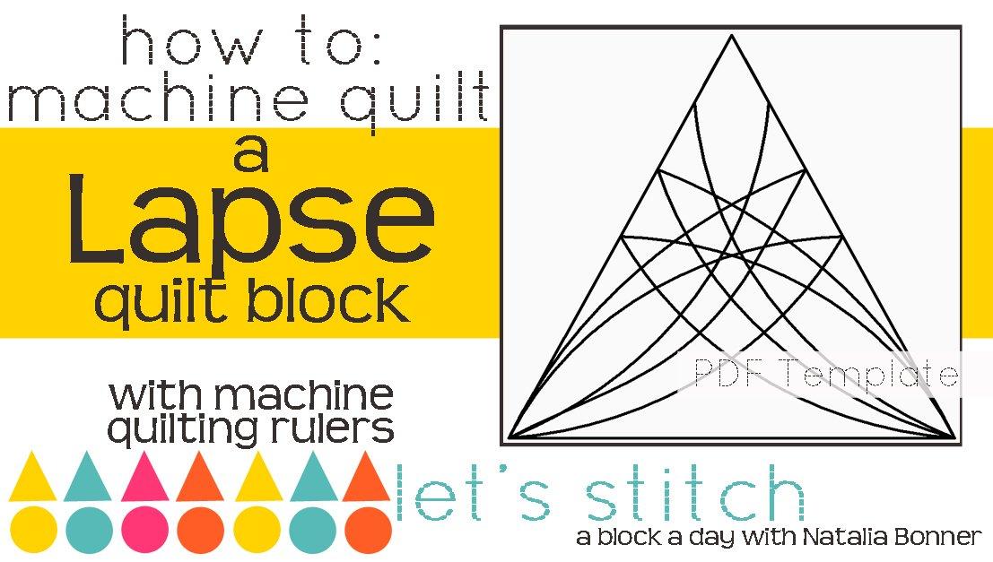Let's Stitch - A Block a Day With Natalia Bonner - PDF - Lapse