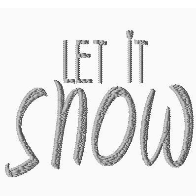 Let it Snow - Embroidery