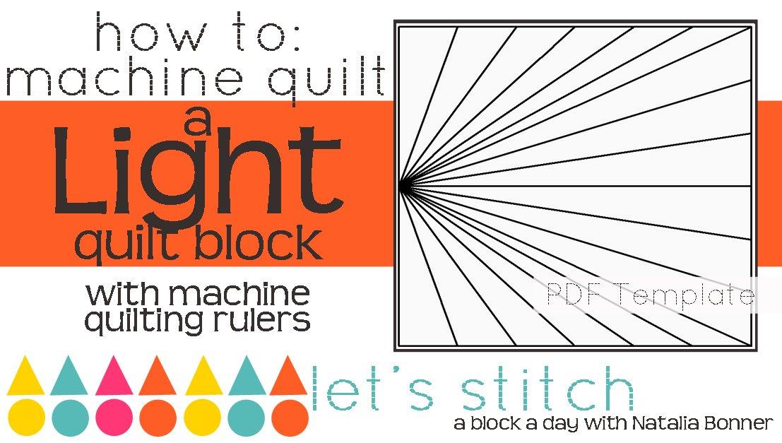 Let's Stitch - A Block a Day With Natalia Bonner - PDF - Light
