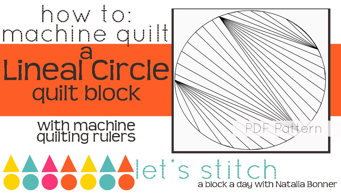 Let's Stitch - A Block a Day With Natalia Bonner - PDF - Lineal Circle