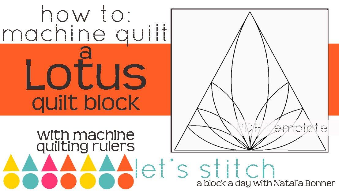 Let's Stitch - A Block a Day With Natalia Bonner - PDF - Lotus