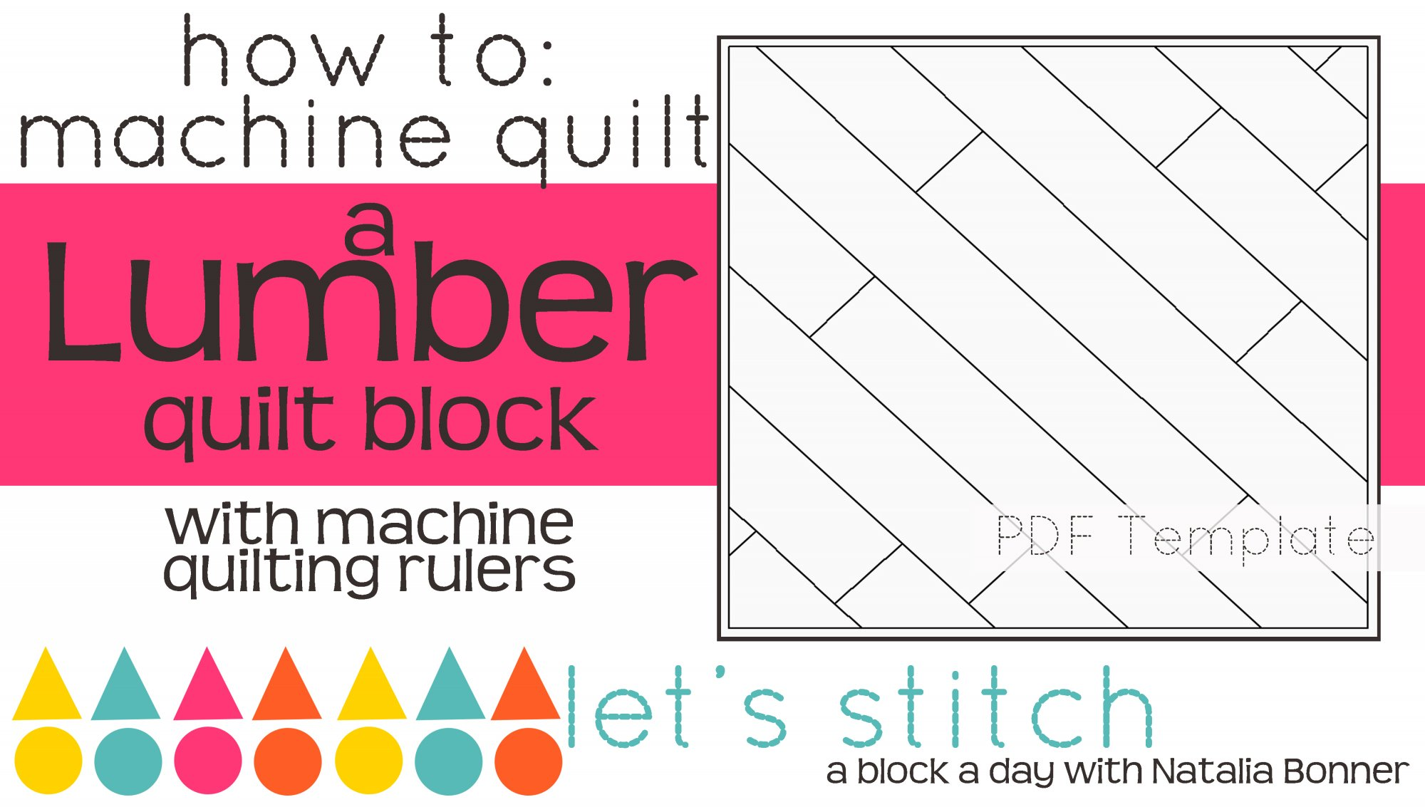 Let's Stitch - A Block a Day With Natalia Bonner - PDF - Lumber