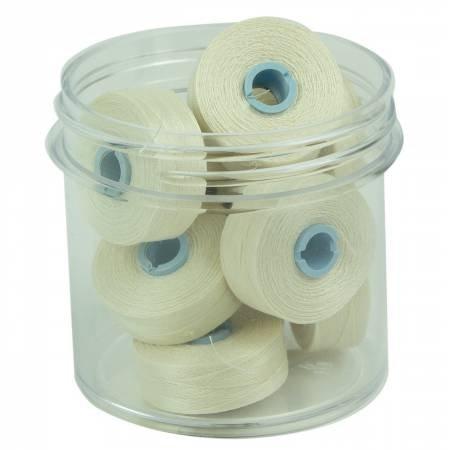 Magna Glide Delights Style M Jumbo 132yd Pre-wound Bobbins Cream 10 Per Jar