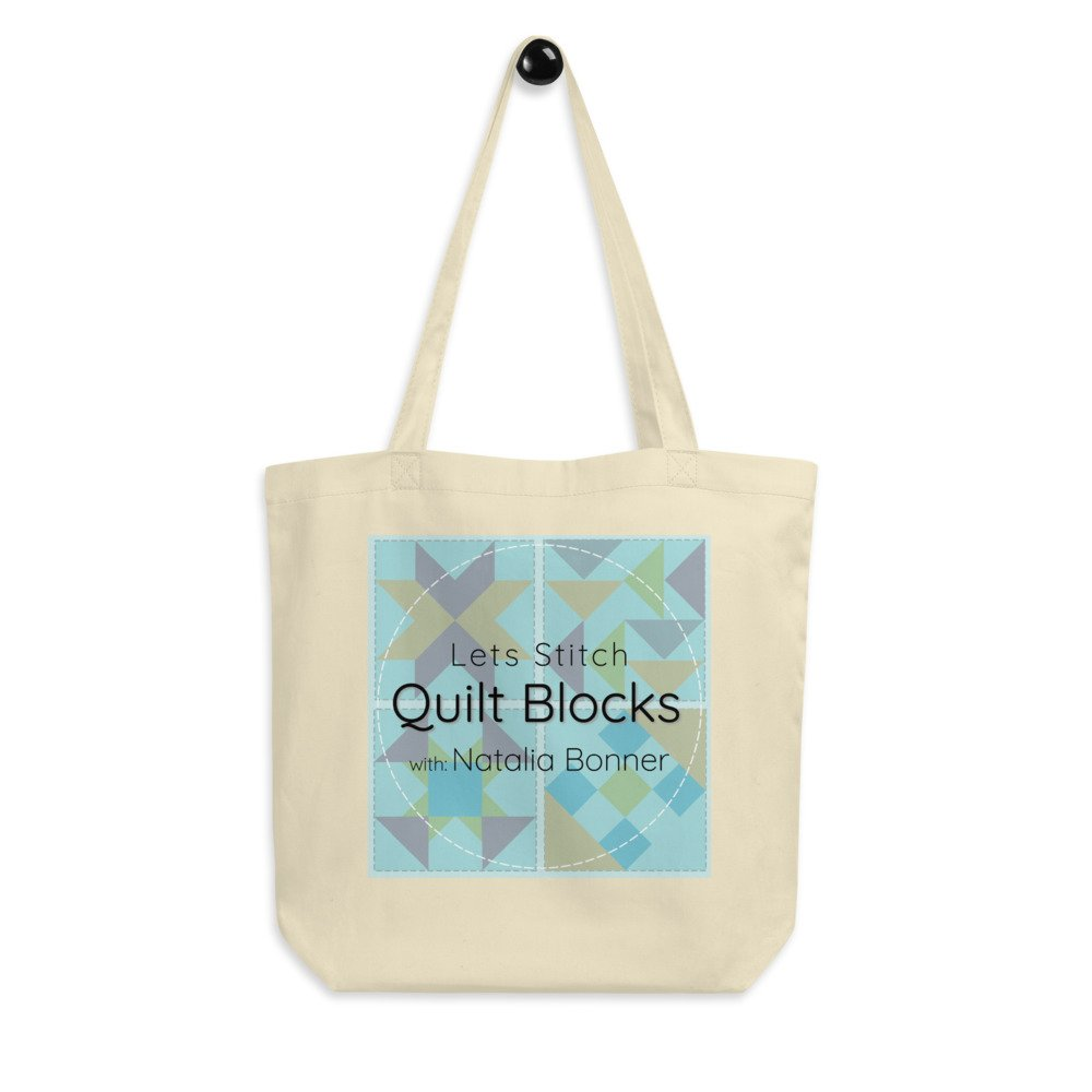 Let's Stitch - Quilt Blocks - Eco Tote