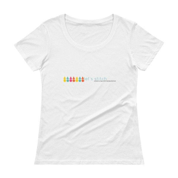 Let's Stitch - Ladies Scoopneck T-Shirt Colorful