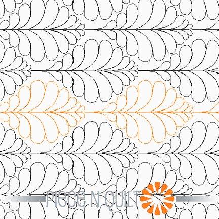 Mod Feathers Pantograph Pattern - Digital