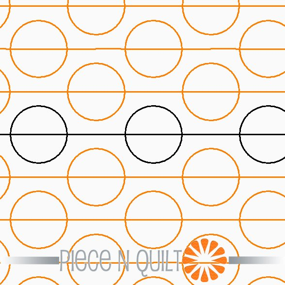 Mod Polka Dot Pantograph Pattern - Digital
