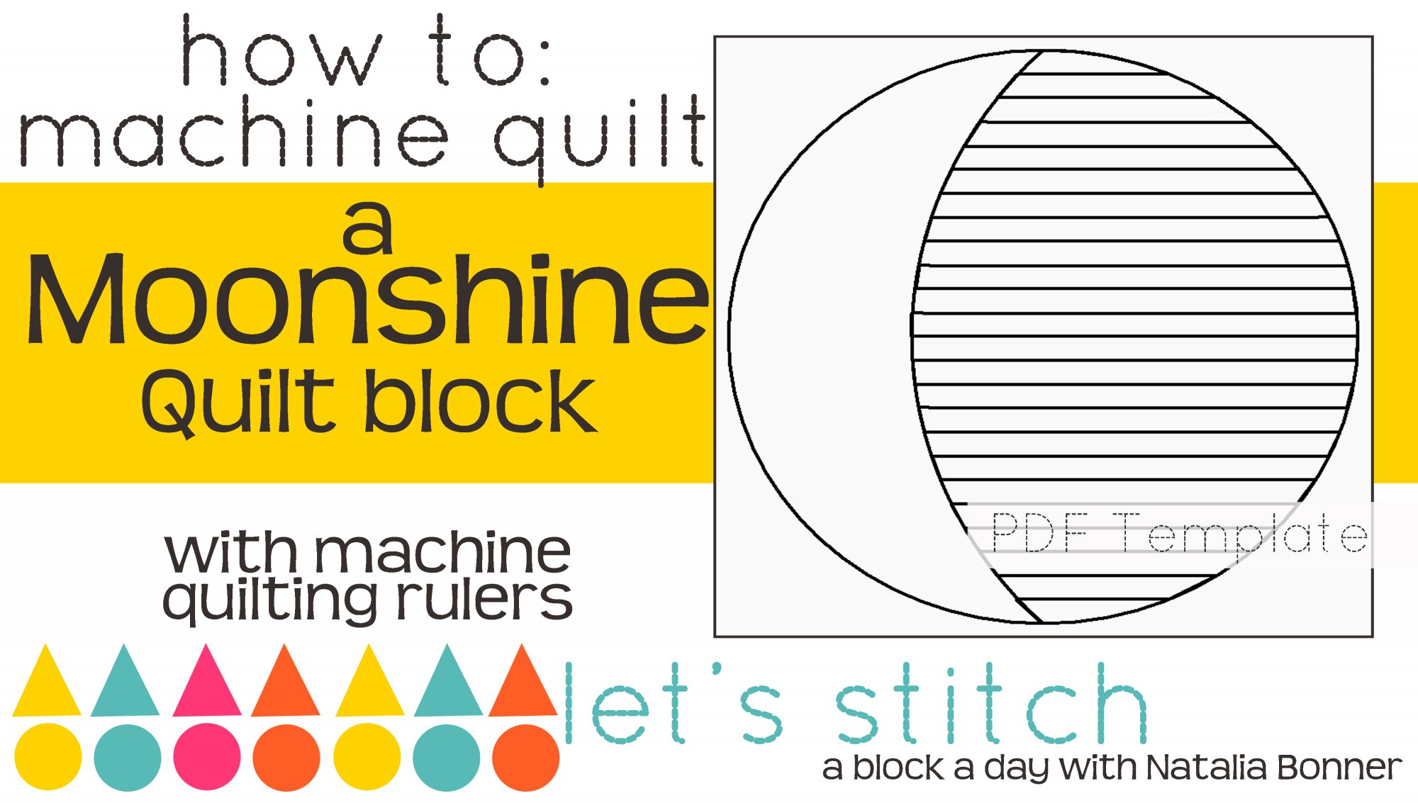 Let's Stitch - A Block a Day With Natalia Bonner - PDF - Moonshine
