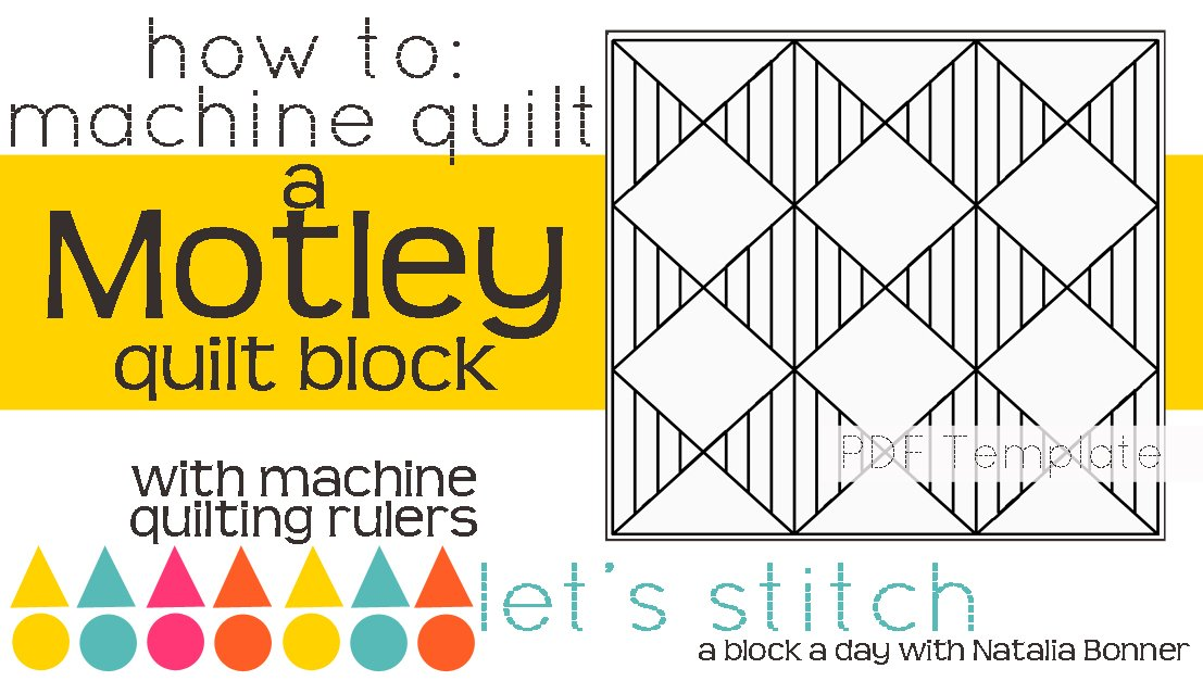 Let's Stitch - A Block a Day With Natalia Bonner - PDF - Motley
