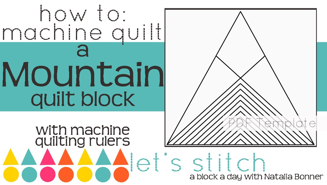 Let's Stitch - A Block a Day With Natalia Bonner - PDF - Mountain
