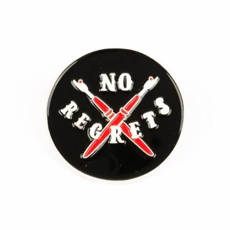 No Regrets Enamel Pin